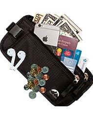 swiftons–Money–Cinturón de viaje (de 26a 40+ Cintura–Componentes de alta calidad & Acabado–datos Seguros RFID Blocking–2Años de Garantía (Negro)