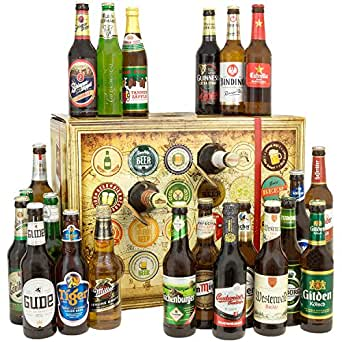 Bier Adventskalender Welt und Deutschland mit Miller + Kilkenny + Captain Morgan + mehr ... 24 Flaschen Bier Geschenk mit Bieren aus aller WELT & DEUTSCHLAND. Bieradventskalender 2017