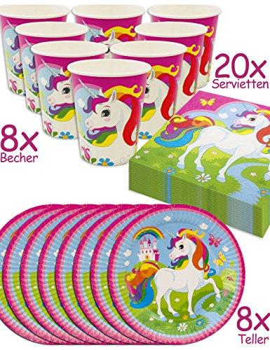 horn Unicorn Party-Geschirr Set