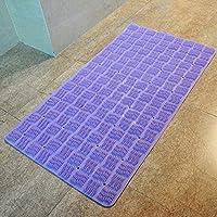 GFYWZ Bagno doccia con pavimento antiscivolo stuoia massaggio piede rilievo casa pad , purple , 64*37cm
