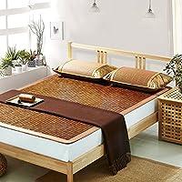 Doppelseitige Gebrauchsbett-Matte - Bambus Sommer Schlafmatten Haushalt Bequem und Atmungsaktiv Faltbare Bambusmatten 1,5m und 1,8m - natürlicher Bambus und Rattan Klappbett-Matte preisvergleich bei kinderzimmerdekopreise.eu