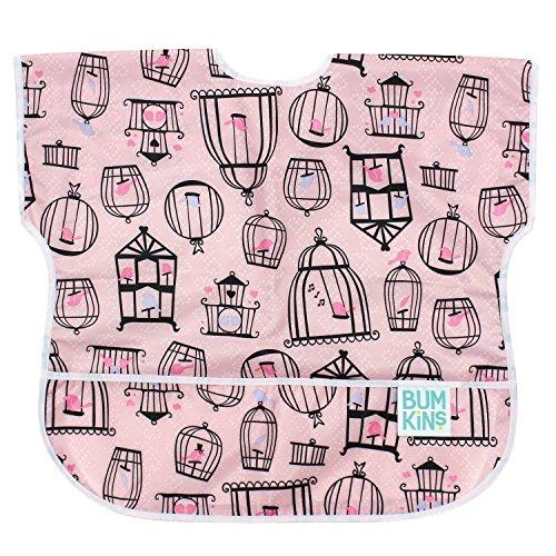 bumkins-bumku200j-junior-bib-bavaglino-rosa-pink-bird-cages