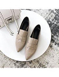 Angrousobiu Der Wind Schuh Tipp mit komfortablen und vielseitigen Retro Kleine Ledertasche Weiblich