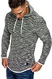 Amaci&Sons Herren 2in1 Kapuzenpullover Hoodie Sweater Pullover Sweatshirt 4013 Schwarz S