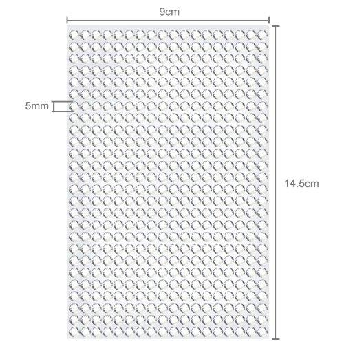 2808 Strasssteine selbstklebend Glitzersteine zum Aufkleben rund Glitzer Aufkleber 5mm groß Kristalle Dekosteine Bastelsteine in silber klar