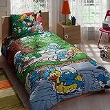 store_turco Schlümpfe Bettwäsche-Set Lizenzprodukt 100% Baumwolle/Schlümpfe Twin Size Bettbezug Set/Schlümpfe Betten Set 3pcs