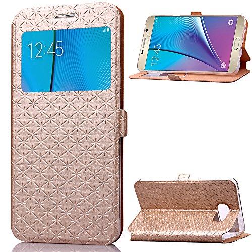 Meet de fenêtre triangulaire pour Apple iPhone 6 Plus / iphone 6S Plus Case, Folio pour Apple iPhone 6 Plus / iphone 6S Plus PU Housse,Wallet / flip étui / Pouch / Case / Holster / Wallet / Case en cu d'or