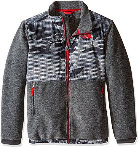 The North Face Boy's Denali Jacket Graphite Grey Mesh Camo Size Medium -