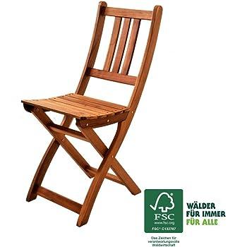XXS® Gartenstuhl | FSC®100% Zertifiziert | Sitzmöglichkeit Aus Akazien Holz  | Massiver Klappstuhl [521578]