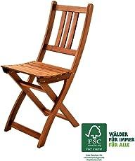 XXS® Gartenstuhl | FSC®100% zertifiziert | Sitzmöglichkeit aus Akazien-Holz | massiver Klappstuhl [521578]