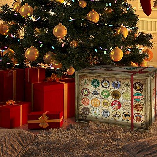 Bier Adventskalender Welt mit Tiger Beer + Estrella + Leffe + mehr … Ein tolles Geschenk für Männer. Bierset + Geschenk, Biersorten WELTWEIT. Adventskalender 2018 – mit 24