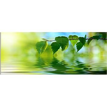 """Wohnzimmer Wand Bild modern Glasbild /""""Meer Boot/"""" von DEKOGLAS 125x50 aus Glas"""