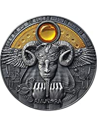Power Coin AMUN RA Amon Divine Faces of The Sun 3 Oz Moneda Plata 5$ Niue 2020