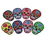 MagiDeal Aufnäher/Bügelbilder Totenkopf/ Sugar Skull,Mexiko, Tag der Toten