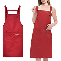 YancLife Nail Salon Apron for Women, Waterproof Chefs Kitchen Apron for Girls Cooking Cafe Grill Baking Restaurant Work…