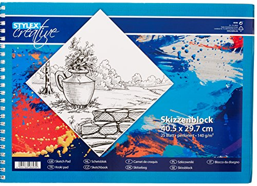 STYLEX 28693 Papier, weiß, 40,5 x 29,7 cm