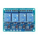 SainSmart - Relé de 4 canales para Arduino PIC AVR DSP ARM (5 V)