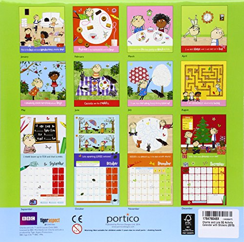 Charlie and Lola SQ Activity Calendar with Stickers (2015)