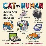 CAT vs HUMAN 2017 Square Wall Calendar