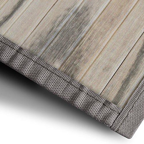 Bambusteppich Magenta | für Bad und Wohnzimmer | natürlich wohnen mit 100% echtem Bambus | Bambusmatte in vielen Größen