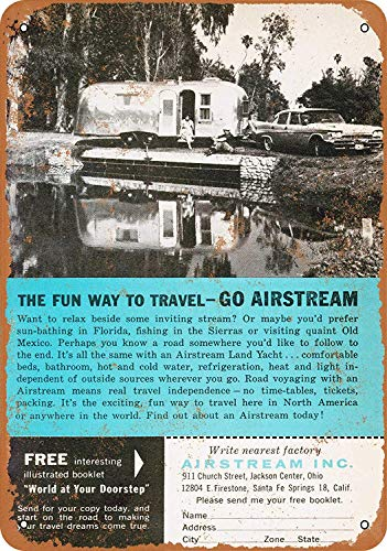 Wise Degree 1960 Airstream Trailers Metallblechschild Poster Wand K¨¹Che Kunst Cafe Garage Shop Bar Dekoration