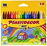 Productos Para Ninos Best Deals - Bic Plastidecor - Estuche con 18 ceras, multicolor