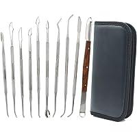 10 outils de sculpture à la cire en acier inoxydable à double extrémité pour sculpture et sculpture en argile,kit d…