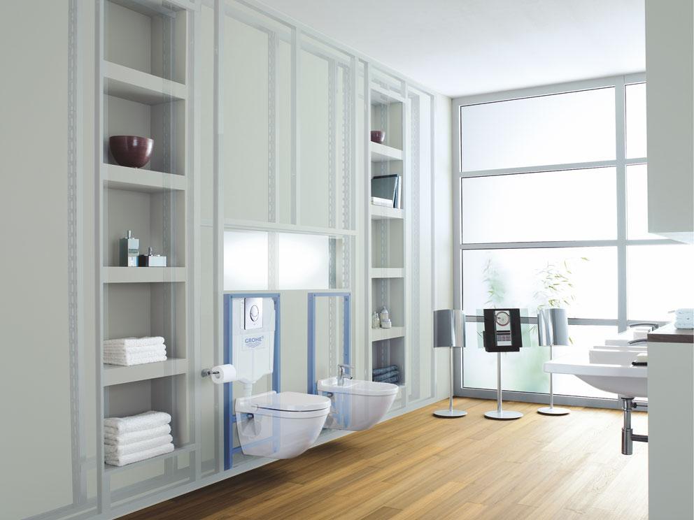 grohe 38636001 habillage pour wc suspendu rapid sl import allemagne bricolage. Black Bedroom Furniture Sets. Home Design Ideas