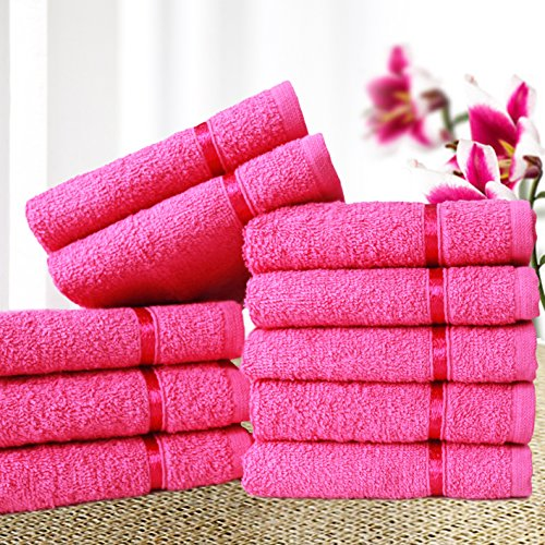 Story@Home Sensational Solid 10 Piece 450 GSM Cotton Face Towel...