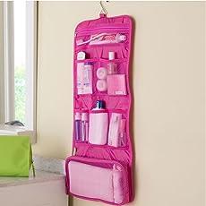 Getko Multi Functional Makeup Handbag Organizer Women Cosmetic Travel Bags, Pink