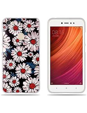 Funda Xiaomi Redmi Note 5A Prime, DIKAS Silicona Transparente TPU Gel [Ultra Fina] [Protección a Bordes y Cámara...