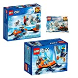 Lego CITY 3er Set 60190 60191 30360 Arktis-Eisgleiter + Arktis-Expeditionsteam + Arktis-Eissäge