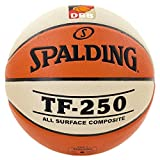 Spalding Basketball TF250 DBB In/out 74-593z Ball, orange/Weiß 6