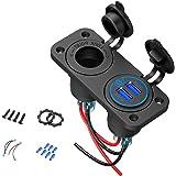 KUTO 12V Marine Usb-Uitgang Paneel Aanraakschakelaar Auto Aansteker Socket Qc 3. 0 Dubbele Usb-Poorten Met Led-Indicator Voor