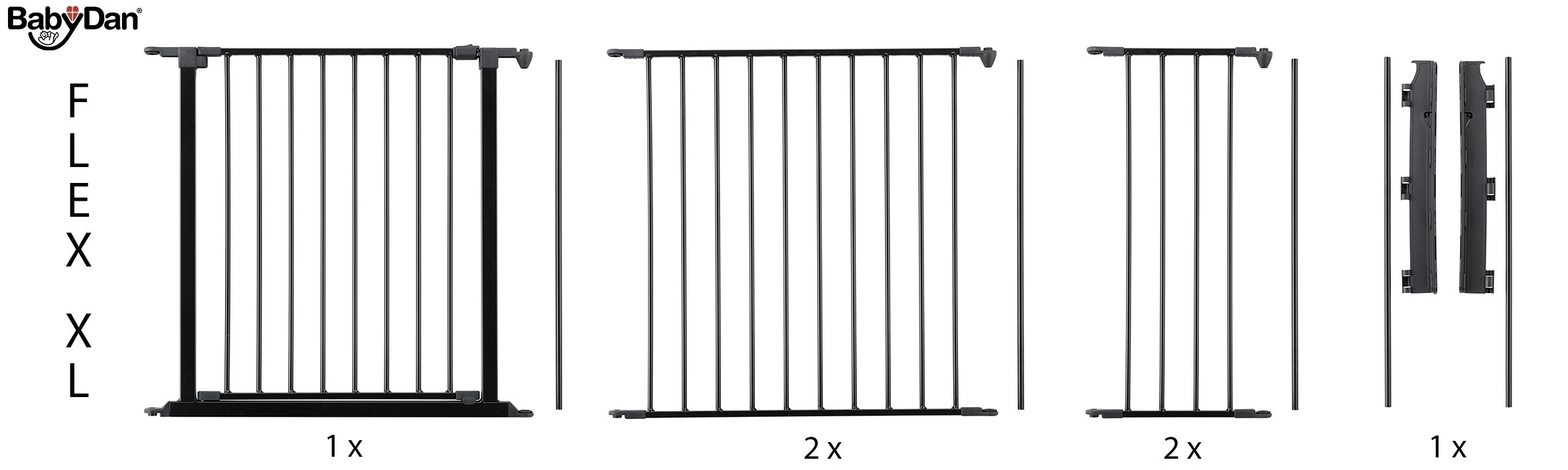 BabyDan Configure (Large 90-223cm, Anthracite) BabyDan Only configure system fulfilling newest european safety standard Multi purpose room divider and gate for wider openings Flexible and easy to fit 5