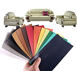 alumuk 13 st ck lederreparatur kunstleder flicken selbstklebend patch reparaturflicken f r leder. Black Bedroom Furniture Sets. Home Design Ideas
