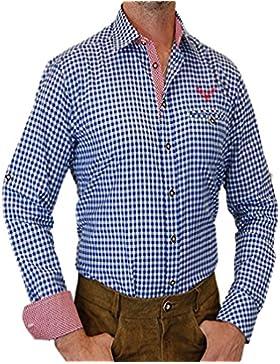 trenditionals Slim Line Trachtenhemd Heinrich mit Kontrasten