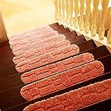 Tappeto Tappeto per uso domestico scale, antiscivolo anti-scivolo piede camera da letto porta gradino in legno scaletta assorbente del piede pad 24 * 70 cm ( Color : E )