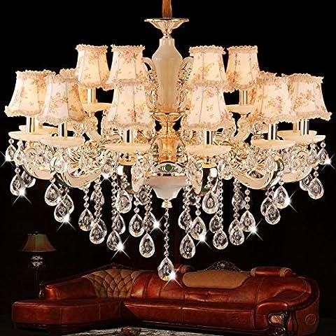 Rts@ Ville di stile lega zinco Premium del Grand doppio soggiorno sala da pranzo lampadario, copertura duplex piano lampadario di cristallo , 18