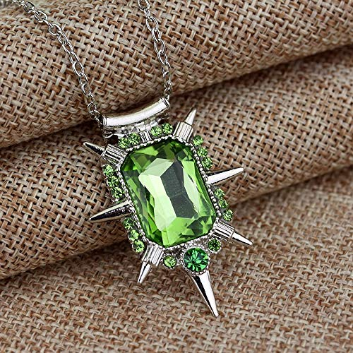 Modeschmuck Once Upon A Time Wicked Witch Zelina Glinda Halskette Green Glass Crystal Charm Pendant & Necklace