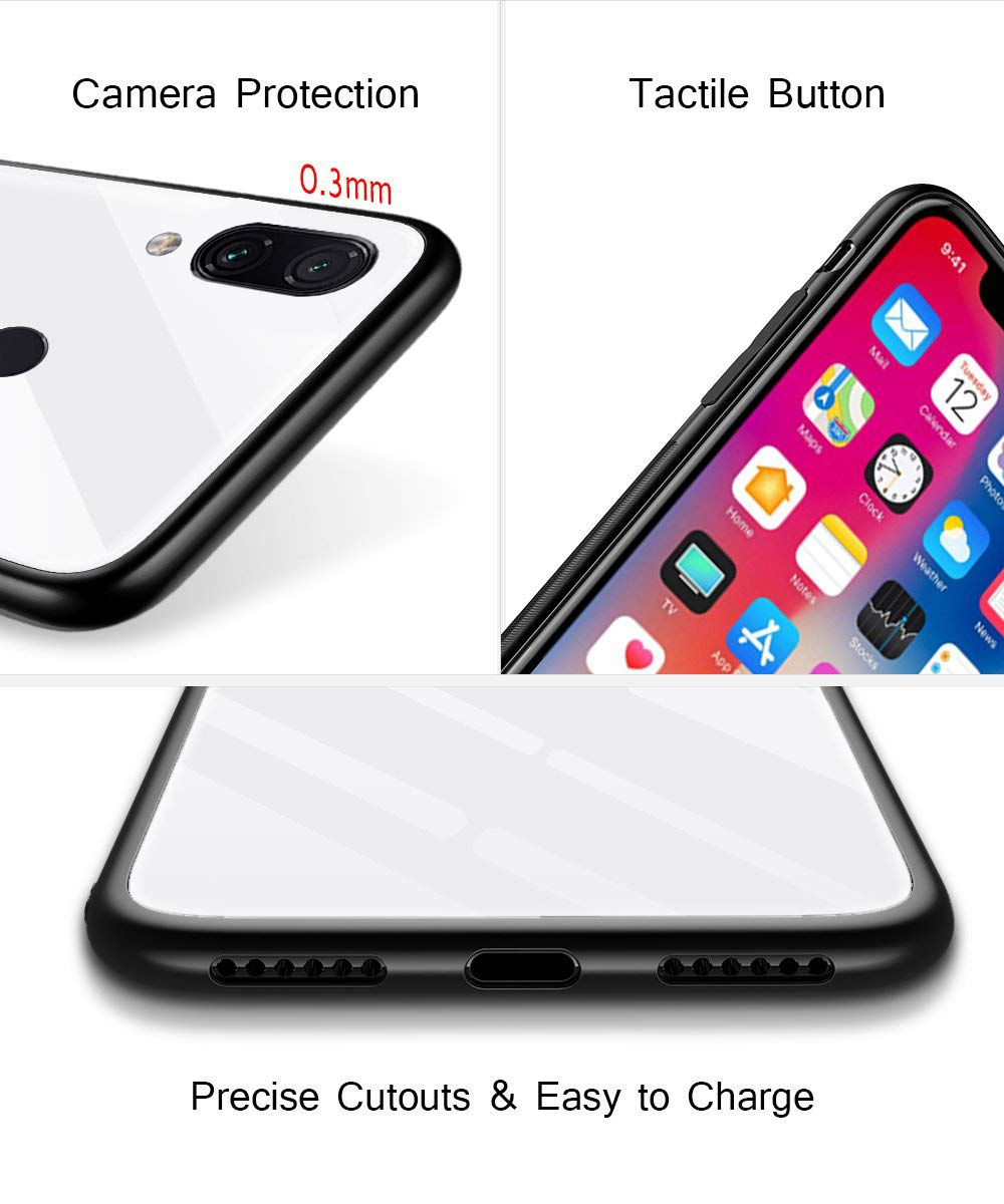 Oihxse Compatible for Xiaomi Mi 8SE Case Glass with Design, Slim Fit Tempered Glass Back Fashion Pattern [Anti-Yellow] [Non-Fade] Cover Shockproof TPU Bumper Skin Shell for Xiaomi Mi 8SE-Yellow3 Oihxse 🍂Slim Fit snugly for Xiaomi Mi 8SE without bulky and loose. 100% compatible with the Qi [Wireless Charging]. Ultra Thin glass back cover will not block [WiFi / GPS / Bluetooth / Signal Reception]. 🍂Stylish autumn series pattern covered with 9H tempered glass to ensure the performance of [Anti-Fade] [Anti-Yellowing], durable for use and adds more sleek look even fashion charming. Suitable for girls, boys, women and men. 🍁Soft TPU bumper with anti-slip design on both sides, compliment with pretty autumn series hard plastic panel plus 9H tempered glass back shell, not only can withstand shocks, impacts, scratches, and bumps, but also provide great in-hand feeling and grip. 4