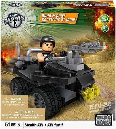Mega Bloks Exclusive True Heroes Stealth ATV Set