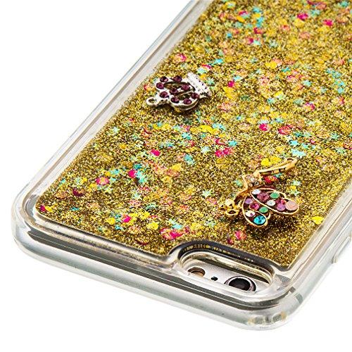 Mk Shop Limited Coque Housse Etui pour iPhone 7 Plus, iPhone 7 Plus Coque en Silicone Glitter, iPhone 7 Plus Silicone Coque Housse Transparent Etui Gel Slim Case Soft Gel Cover, Etui de Protection Cas Multi-couleur 7