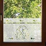 600 / 65cm hoch Sichtschutz Fensterfolie Glasdekor Kinderzimmer Sichtschutzfolie Window blickdicht wasserfest selbstklebende Folie