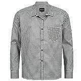 Trachtenhemd für Trachten Lederhosen Freizeit Hemd schwarz-kariert Gr. S-XXXL