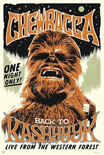 empireposter 732262 Star Wars Chewbacca Rock Poster Plakat, Papier, Bunt, 91.5 x 61 x 0.14 cm
