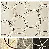Design Teppich Cells | moderner Wohnzimmerteppich mit Trend Kreis Muster | in 2 Größen und vielen Farben für Wohnzimmer, Esszimmer, Schlafzimmer etc. | creme 160x220 cm
