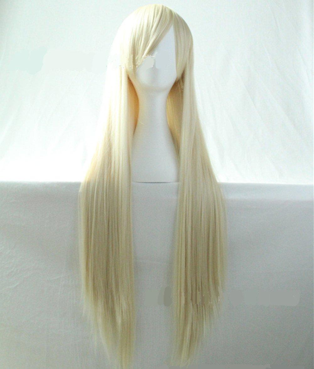 Chiguo Parrucca da Donna 32″  80 Parrucche Lunga Rettilineo delle Capelli  Parrucca per Moda Adulti Womens Cosplay 151cef91dc93