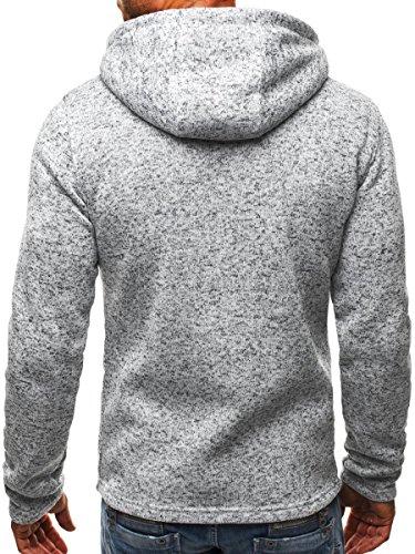 Minetom Uomo Felpa Con Cappuccio Hoodies Hooded Sweatshirt Manica Lunga Cappotto Giacca Felpe Tops Outwear Inverno Colori A Contrasto A Grigio
