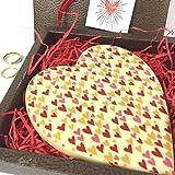 Large White Chocolate Heart - White Chocolate Heart -...